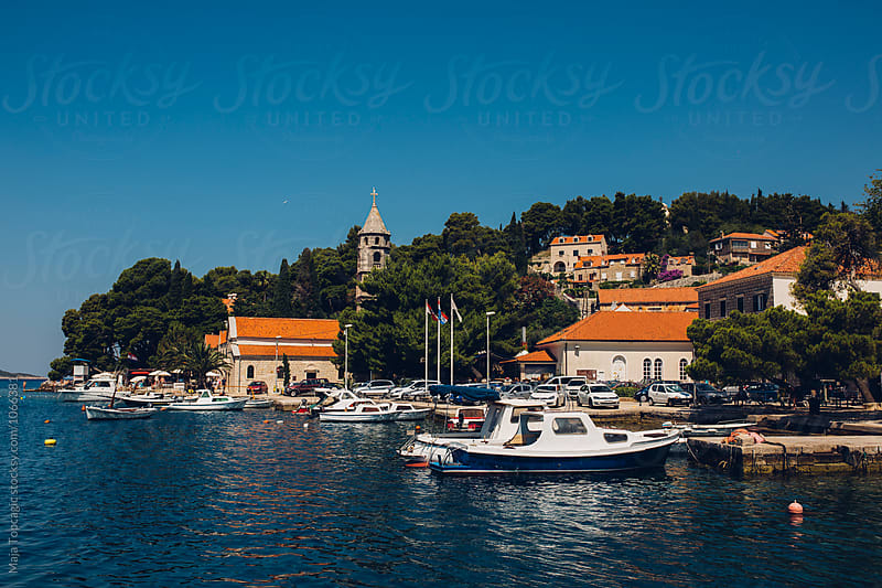 Old town on the island Cavtat by Maja Topcagic for Stocksy United