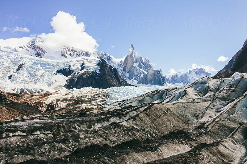 Beautiful view on snowy mountains in Argentina by Alejandro Moreno de Carlos for Stocksy United