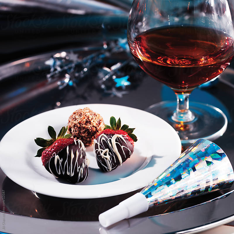 Cognac and Strawberries by Jill Chen for Stocksy United