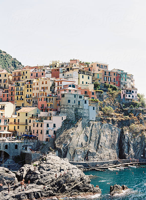 Coastal town of Manarola in Cinque Terre Italy  by Vicki Grafton Photography for Stocksy United