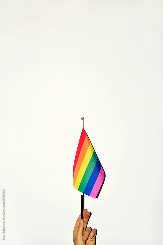 gay flag  by juan moyano for Stocksy United