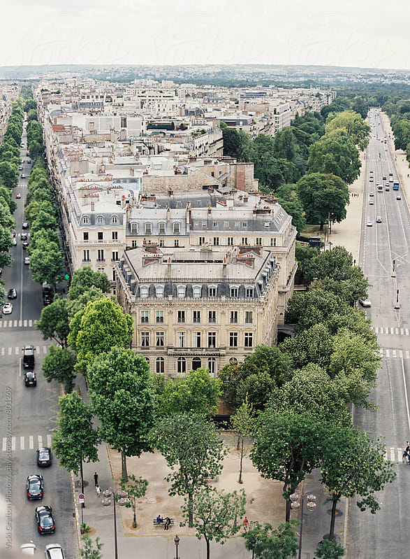 Paris from above by Vicki Grafton Photography for Stocksy United