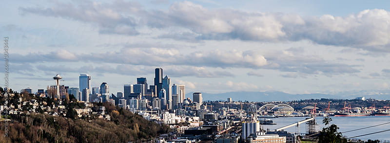 View of Seattle downtown from a distance by Suprijono Suharjoto for Stocksy United