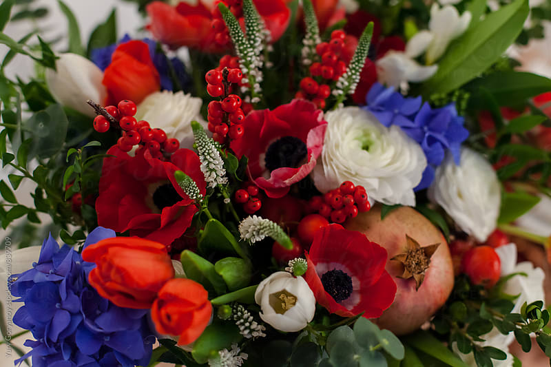Flower arrangement by Yury Goryanoy for Stocksy United