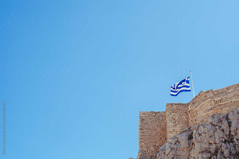 Tourists overlooking Athens by Aaron Thomas for Stocksy United