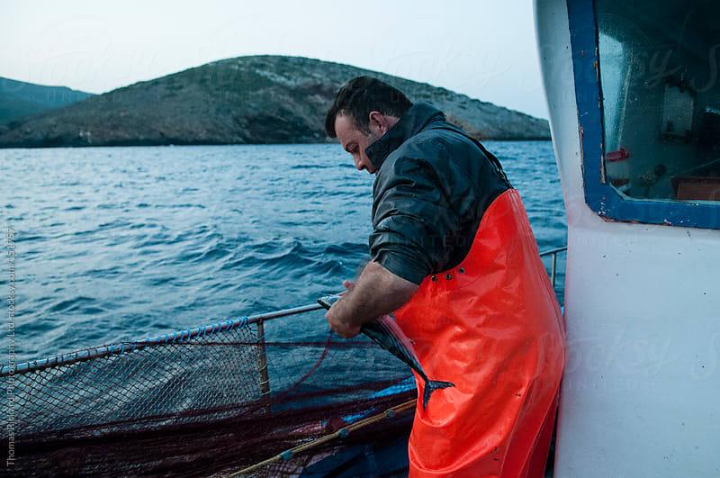 Commercial fisherman, Fourni Islands, Aegean Sea, Greece. by Thomas Pickard Photography Ltd. for Stocksy United