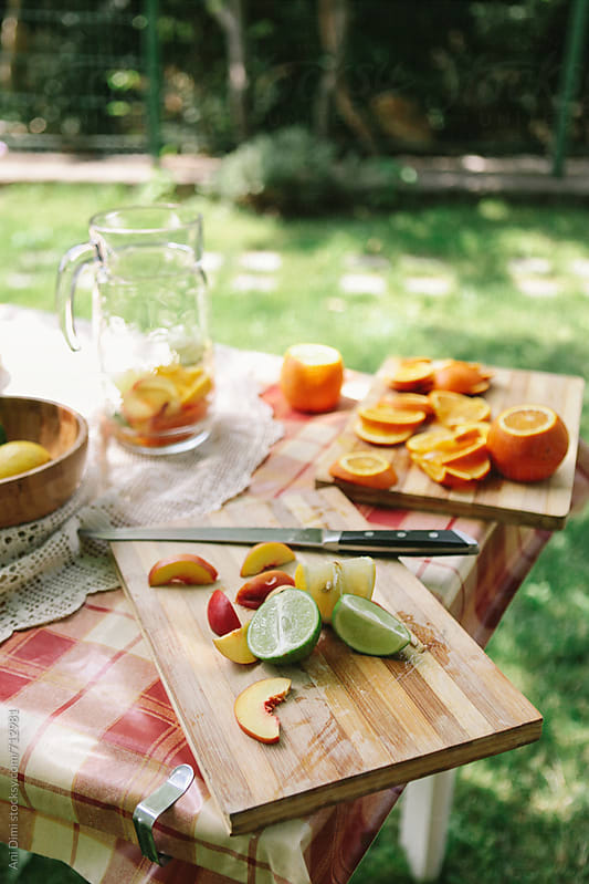 Making sangria by Ani Dimi for Stocksy United