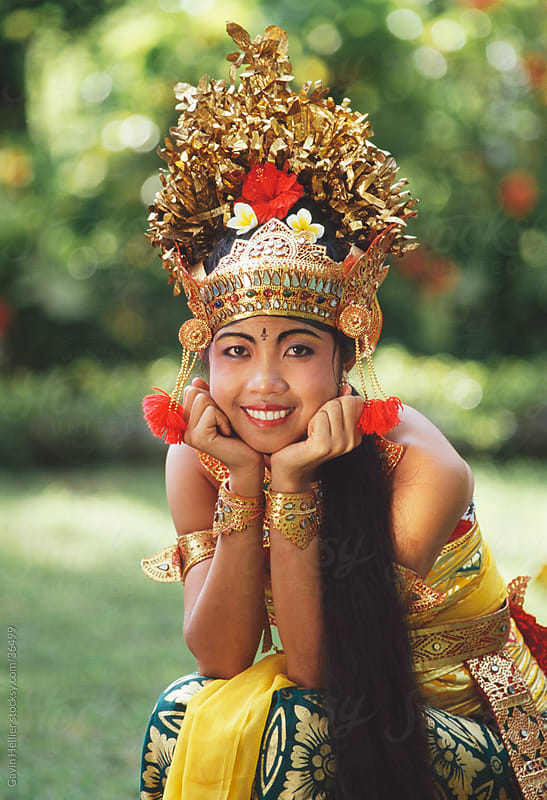 Portrait of a Legong dancer, Bali, Indonesia, Southeast Asia, Asia by Gavin Hellier for Stocksy United