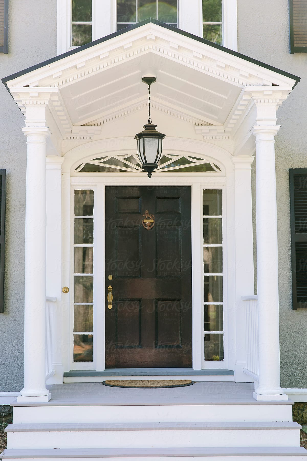 Front Door Of New England Home By Raymond Forbes LLC For Stocksy United