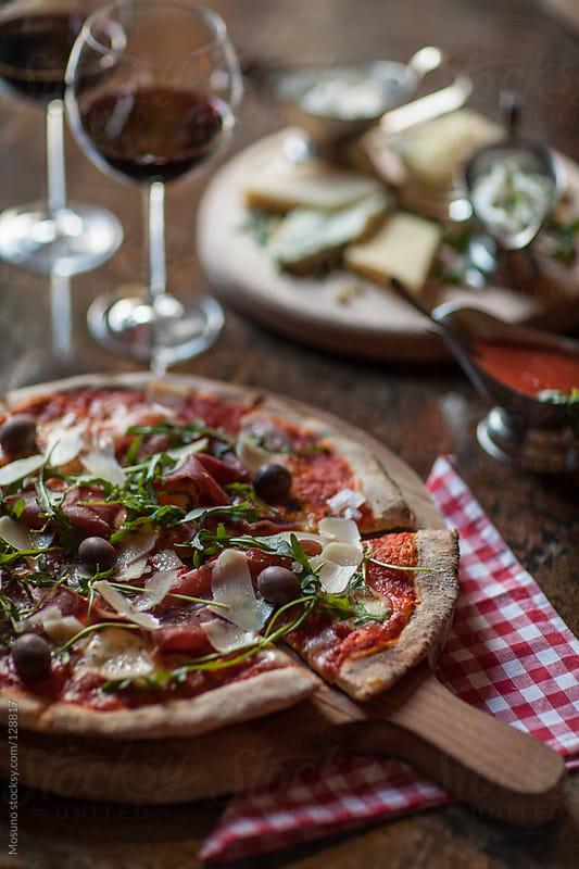Prosciutto Crudo Pizza by Mosuno for Stocksy United