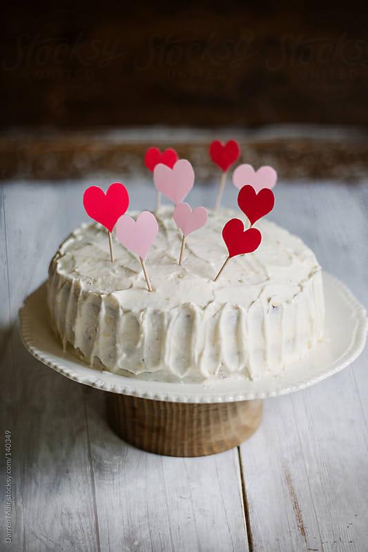 Love heart cake. by Darren Muir for Stocksy United