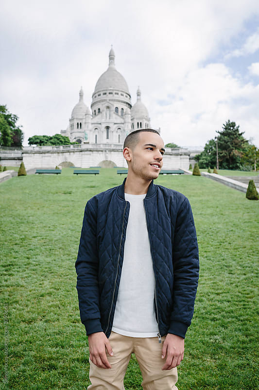 Young man in Paris by Simonfocus for Stocksy United