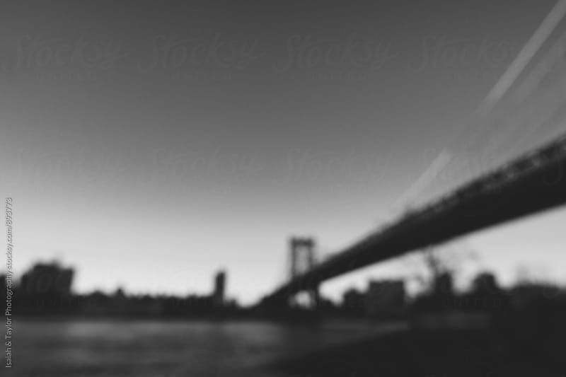 Bridge out of focus by Isaiah & Taylor Photography for Stocksy United