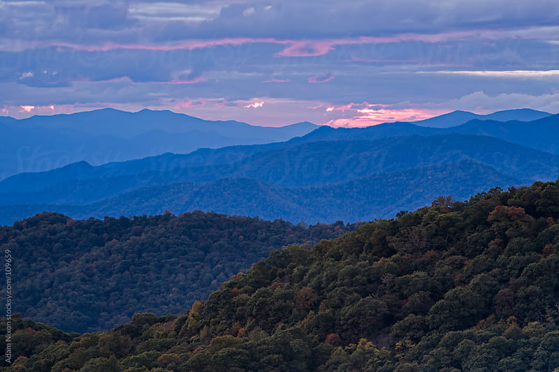 Sunset over the Smoky Mountains by Adam Nixon for Stocksy United