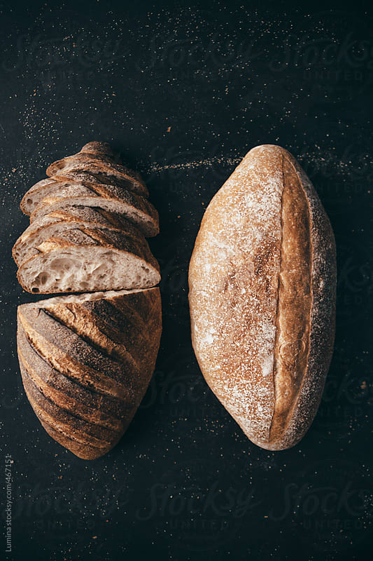 Two Loaves of Bread by Lumina for Stocksy United