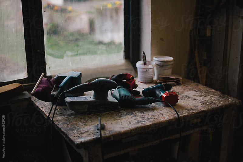 Tool in carpenter's workshop  by VeaVea for Stocksy United