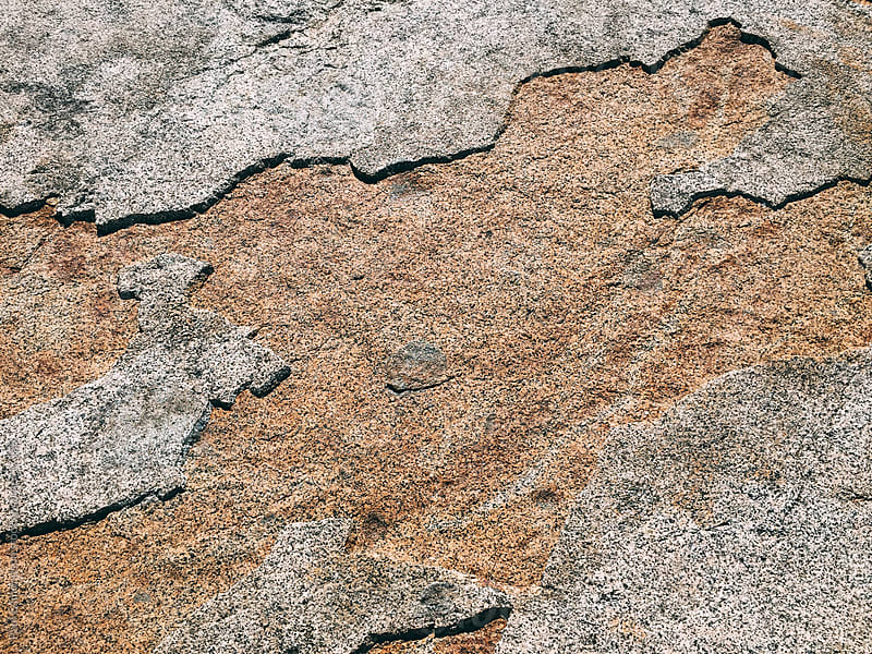 Close up of worn granite rock, High Sierra, CA by Paul Edmondson for Stocksy United