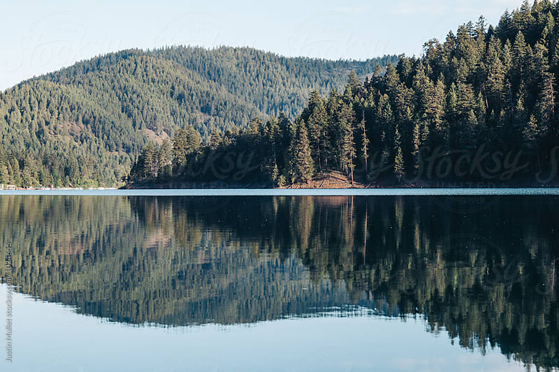 Mountain Lake Landscape by Justin Mullet for Stocksy United