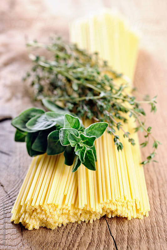 Food: Spagghetti, Oregano and Thyme by Ina Peters for Stocksy United