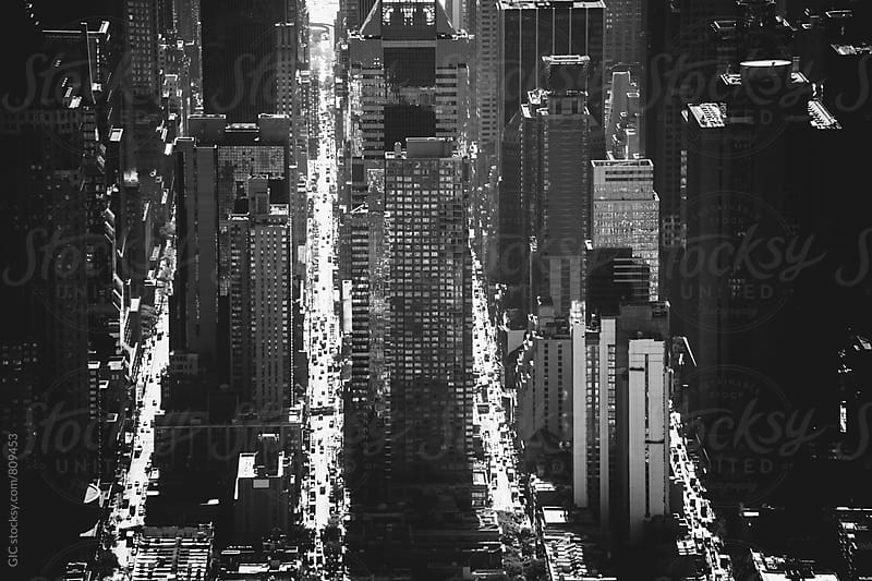 Aerial view of New York City by Simone Becchetti for Stocksy United