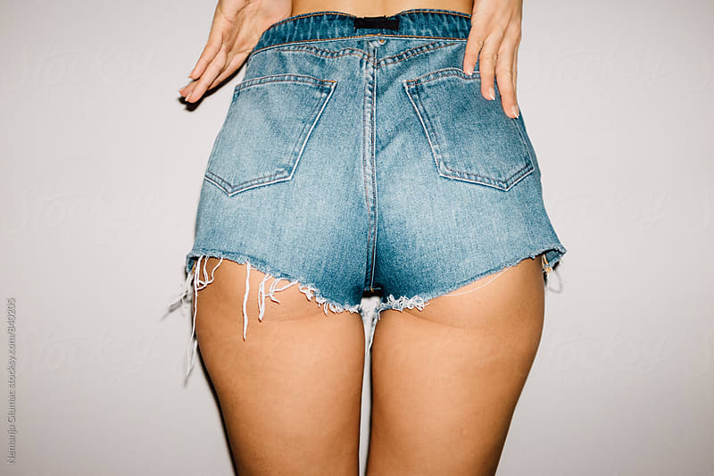 Real and Unedited Female Butt in a Jeans Shorts by Nemanja Glumac for Stocksy United