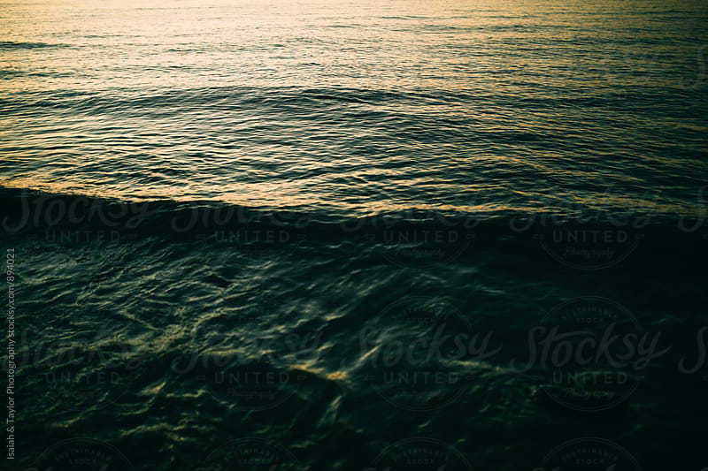 Detail of lake water ripples by Isaiah & Taylor Photography for Stocksy United