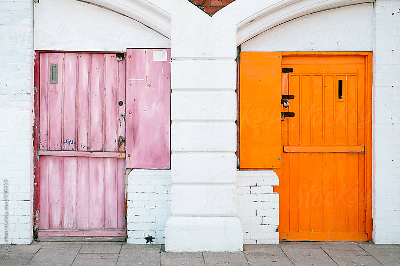 Colourful doors by Sam Burton for Stocksy United