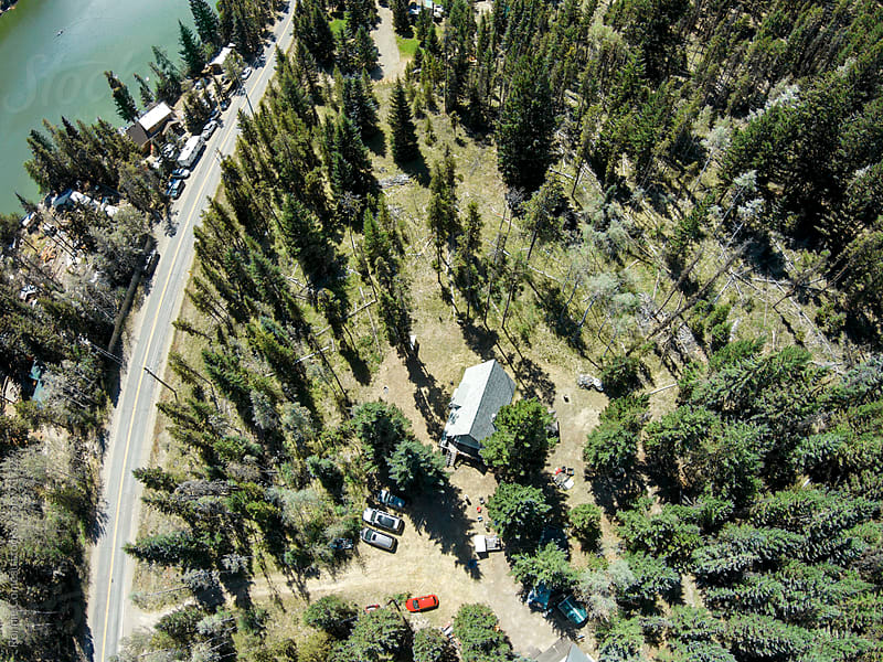Recreational Properties Near Lake From Above by Ronnie Comeau for Stocksy United
