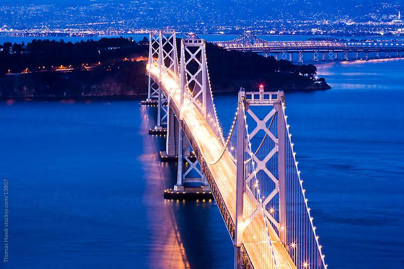 Bay Bridge Aerial by Thomas Hawk for Stocksy United