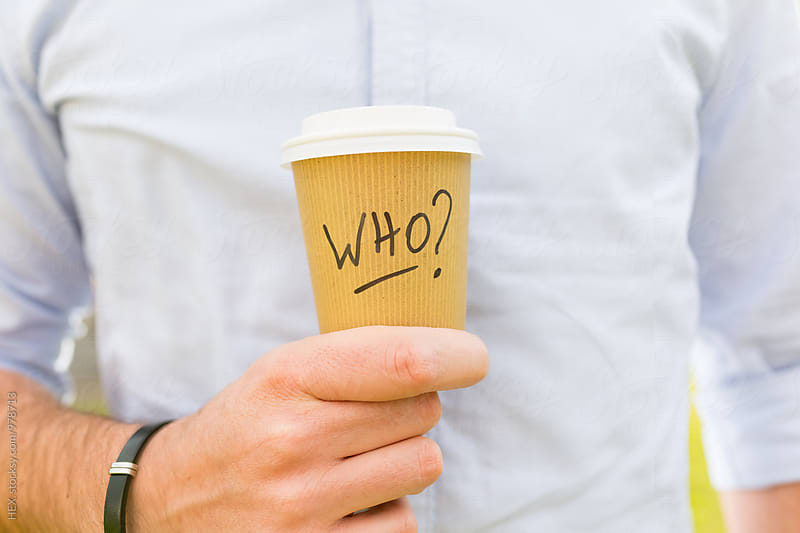 Coffee Cup Take Away with Who Written On by Mattia Pelizzari for Stocksy United