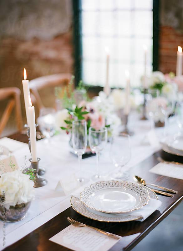 Wedding place setting by Marta Locklear for Stocksy United