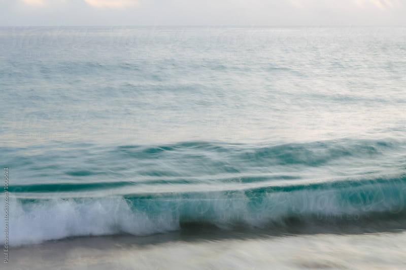 Breaking wave, long exposure, North Shore, Oahu, Hawaii by Paul Edmondson for Stocksy United