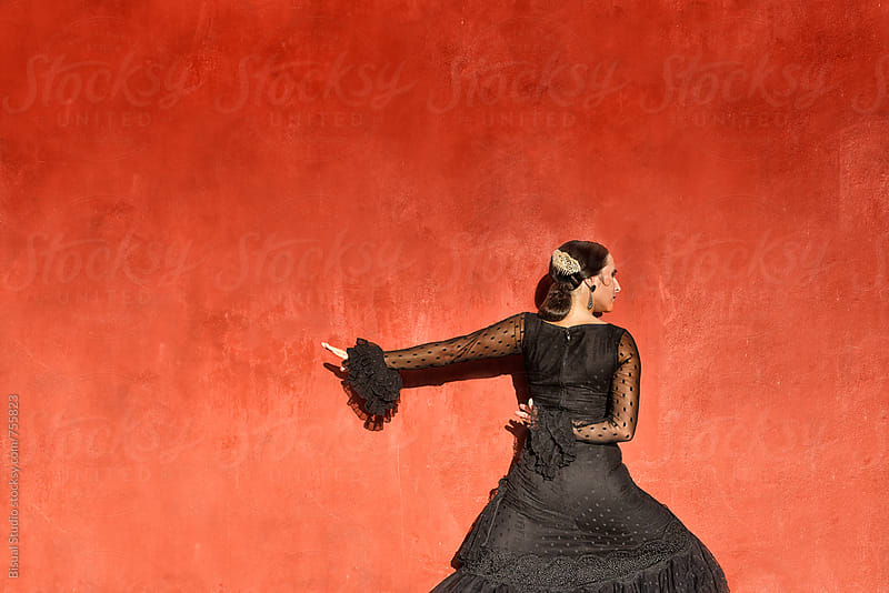 Professional flamenco dancer, Granada by Bisual Studio for Stocksy United