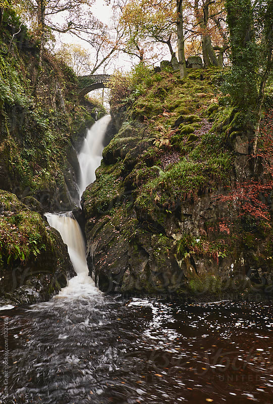 Aira Force waterfall. Cumbria, UK. by Liam Grant for Stocksy United