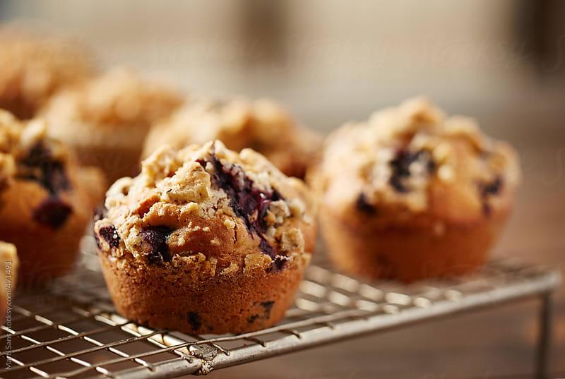 Blueberry muffin by Martí Sans for Stocksy United