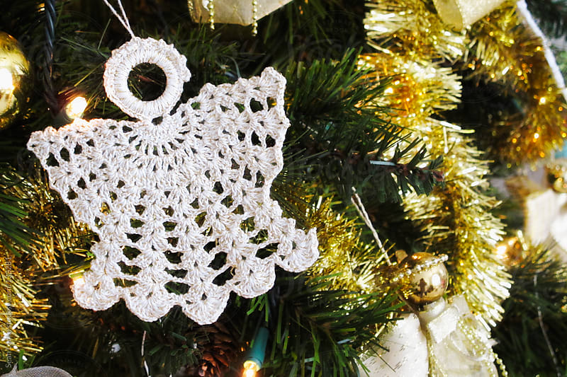Christmas Angel Crocheted Ornament by Sean Locke for Stocksy United