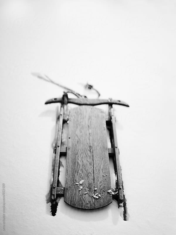 Wooden sled by otto schulze for Stocksy United