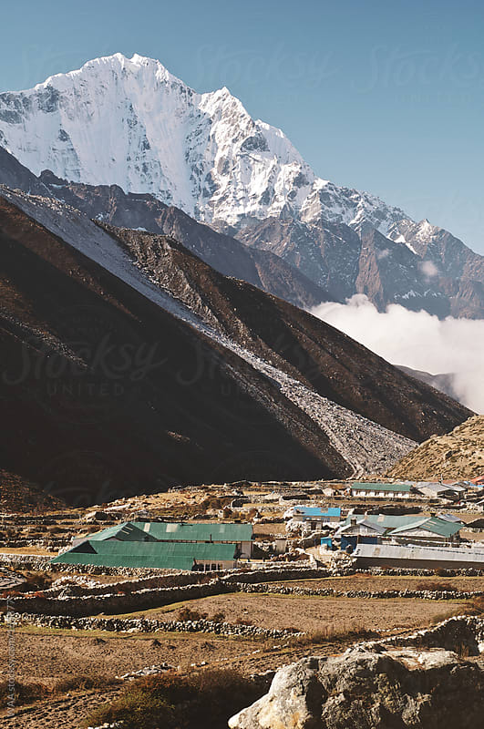 Himalayan Settlement in Valley Floor by WAA for Stocksy United