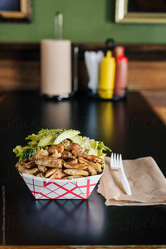 Bar Food: Chicken and Avocado Salad by Cameron Whitman for Stocksy United