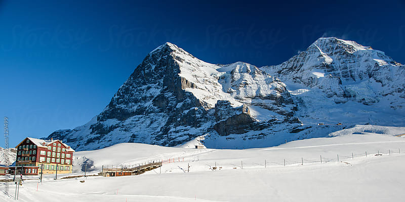 Eiger and Mönch mountain peak by Peter Wey for Stocksy United