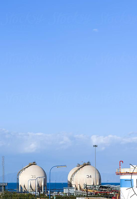 Oil refinery  by Luca Pierro for Stocksy United