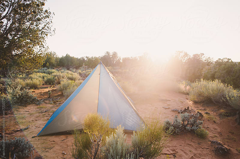 Tent Camping in Utah by michelle edmonds for Stocksy United