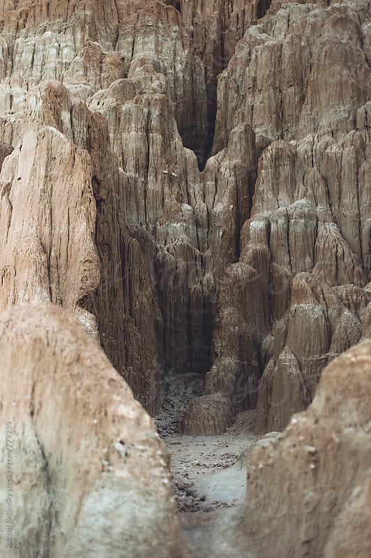 Rock formations at Cathedral Gorge by Rachel Bellinsky for Stocksy United