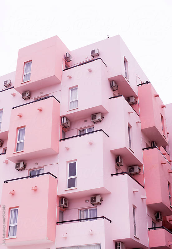 Pink Building by B & J for Stocksy United