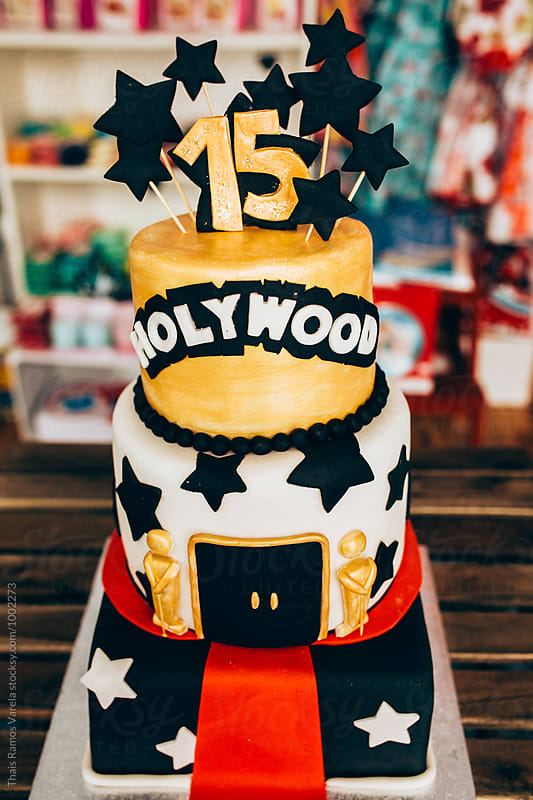 hollywood themed cake by Thais Ramos Varela for Stocksy United
