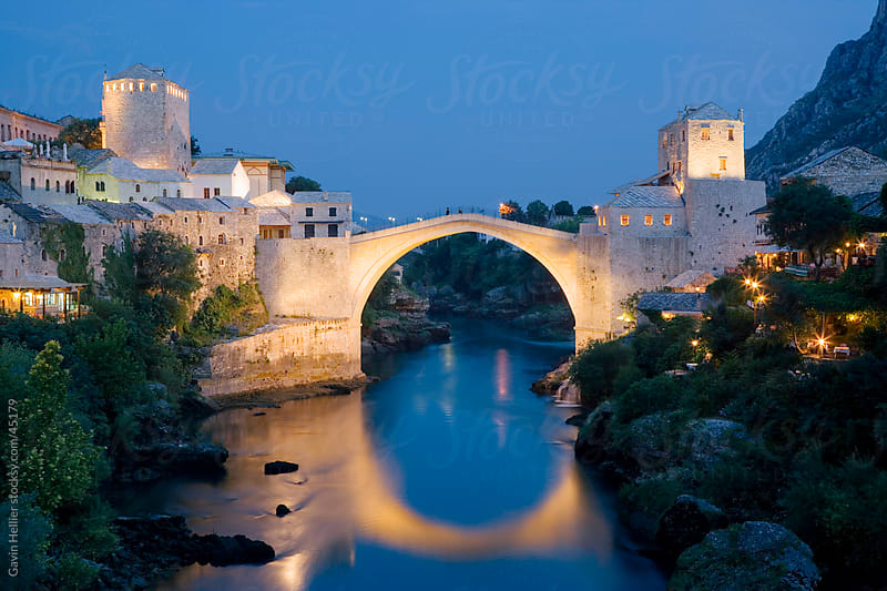 Stari Most (Old Bridge), UNESCO World Heritage Site, Mostar, municipality of Mostar, Bosnia and Herzegovina, Europe by Gavin Hellier for Stocksy United