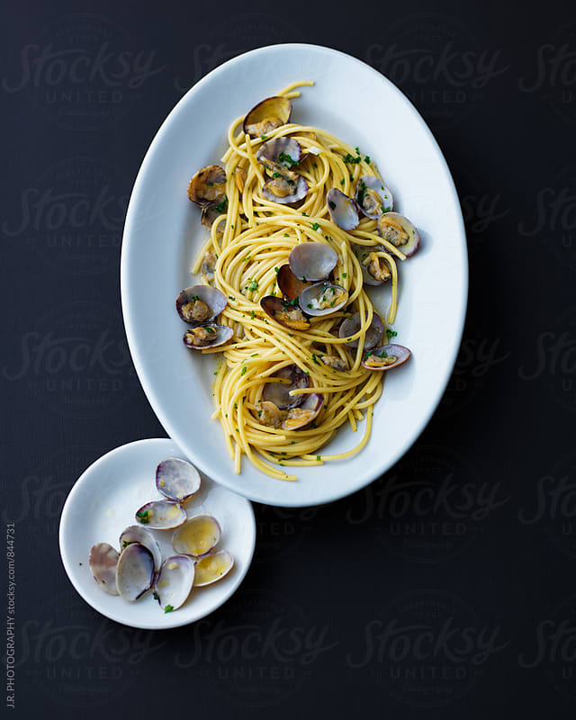 Spaghetti vongole by J.R. PHOTOGRAPHY for Stocksy United
