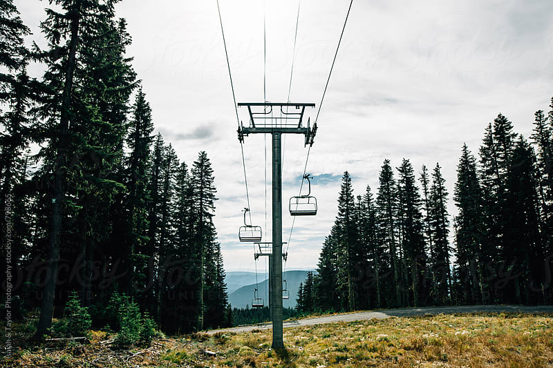 Ski Lift by Isaiah & Taylor Photography for Stocksy United