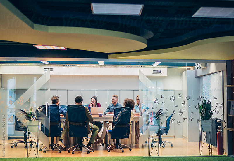 Business People in a Conference Room by Lumina for Stocksy United