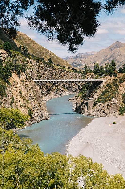 Hanmer Springs Road and Waiau River, Hanmer Springs, New Zealand by Thomas Pickard for Stocksy United